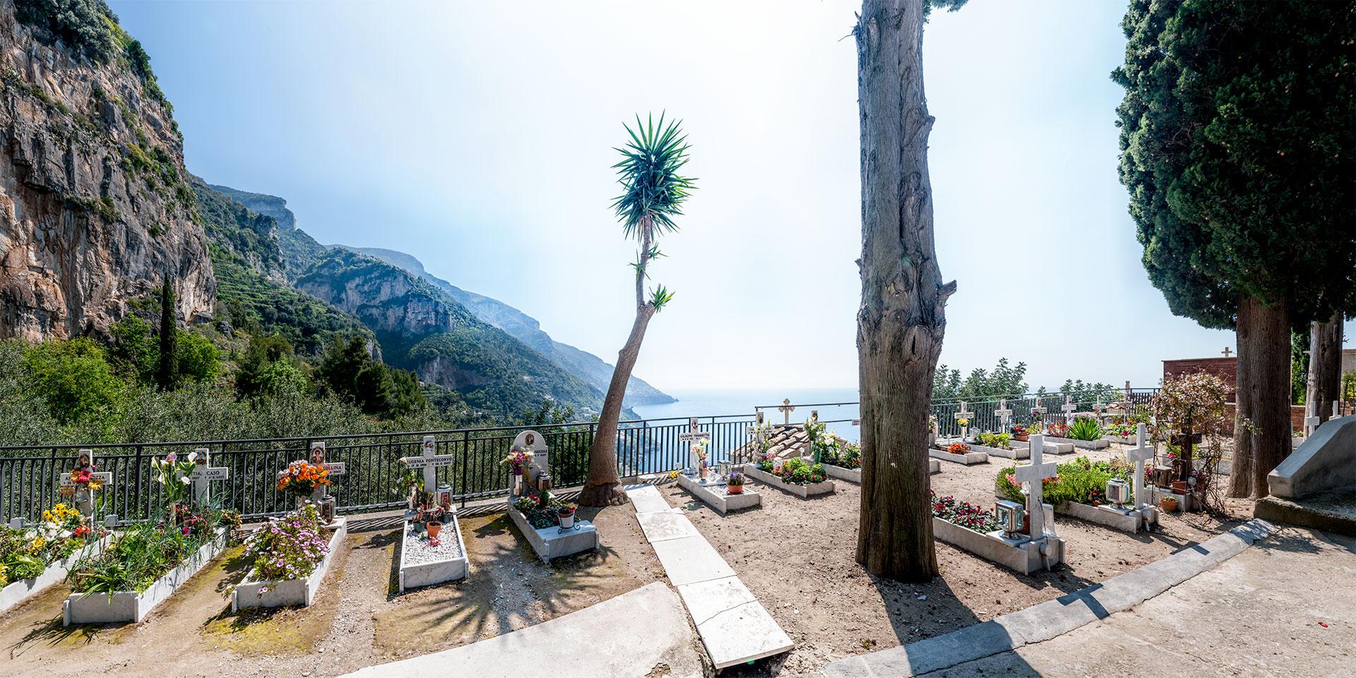 Friedhof Positano, Italien