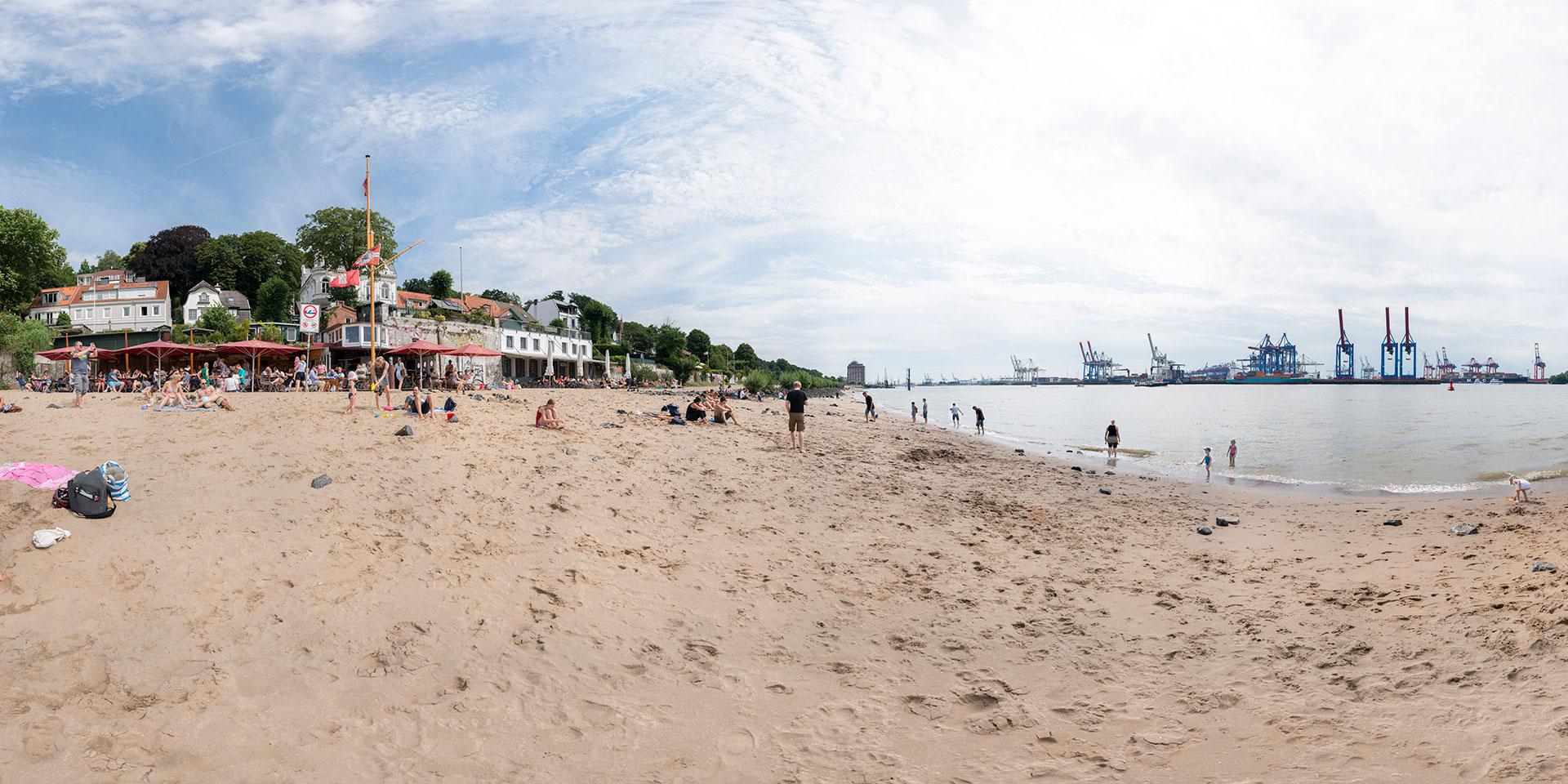 Elbe - Övelgönne -Hamburg - Strandperle