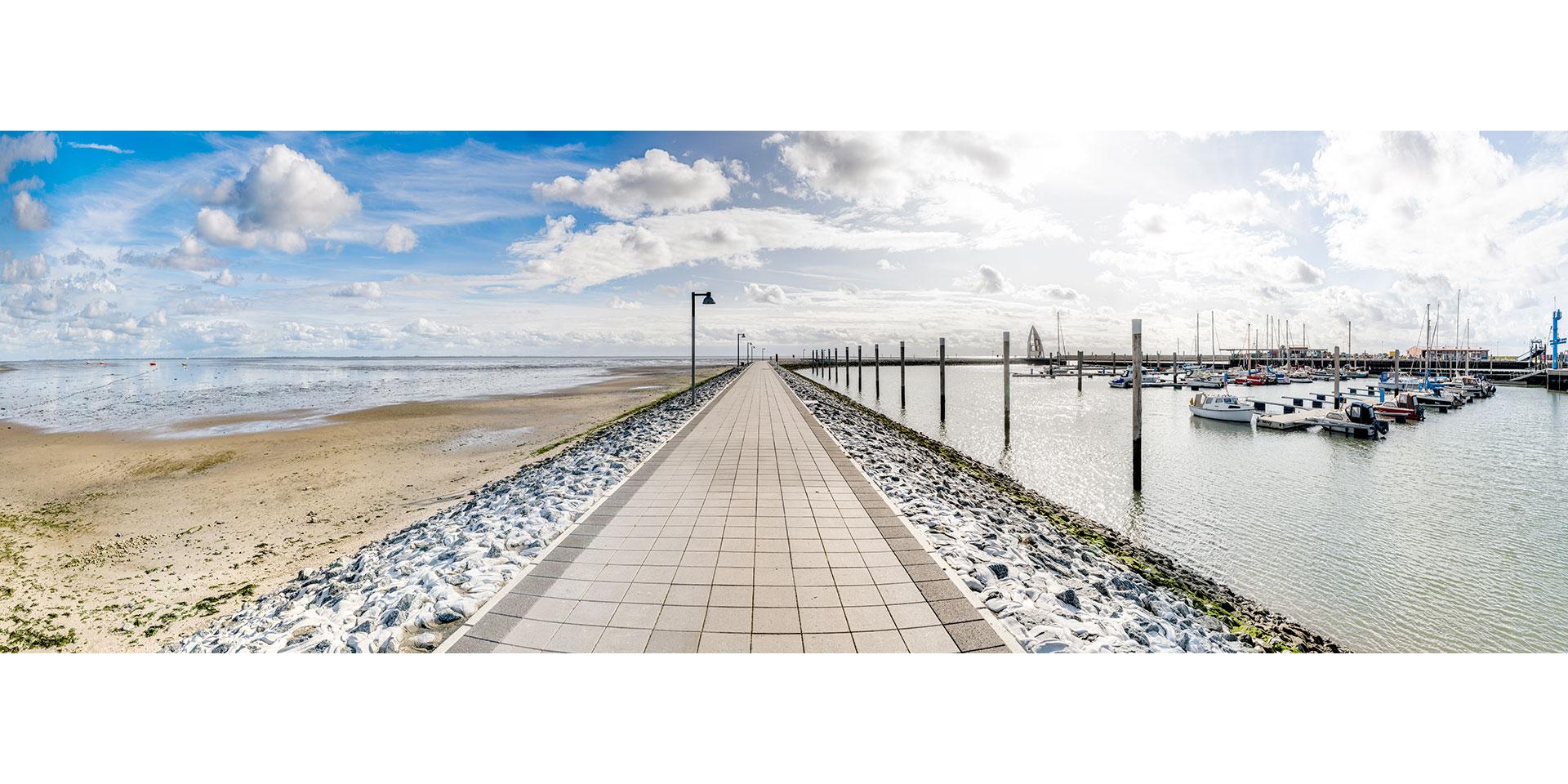 Juist Hafen - Nordsee - Deutschland